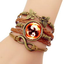 2019 NEW Phoenix time gem Bracelet Multilayer hand-made Vintage Butterfly Combination Bracelets Bangles for women men(China)
