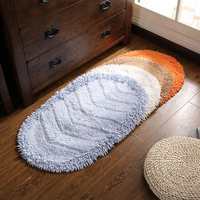 100% Cotton Bath Mat 4 Colors Toilet Carpet Chenille Carpet for Toilet Bathroom Floor Rug Door Mat Anti Slip Small Area Rug Pad