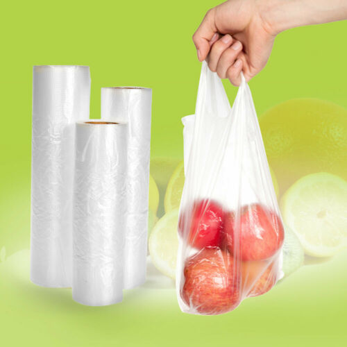 Freezer-Bag Vegetable-Food Plastic Heavy-Duty Produce-Roll Hand-Held Clear