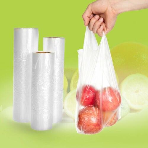 Freezer-Bag Plastic Produce-Roll Vegetable-Food Clear Hand-Held Heavy-Duty