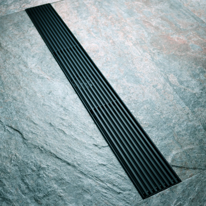 Floor Drain 304 Stainless Steel Odor-proof Large Displacement Long Invisible Toilet Lengthened Black Drains Deodorization Type