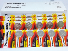 40pcs/lot New Genuine Panasonic CR2016 2016 3V Button Cell Battery Coin Batteries For Watch Computer Free Shipping