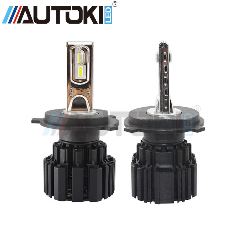 Free Shipping Autoki Super bright P9 Car Led Headlight Bulb 100W 13600lm headlamp 6000K H4 H7 H11 9005 9006 9012 car headlight