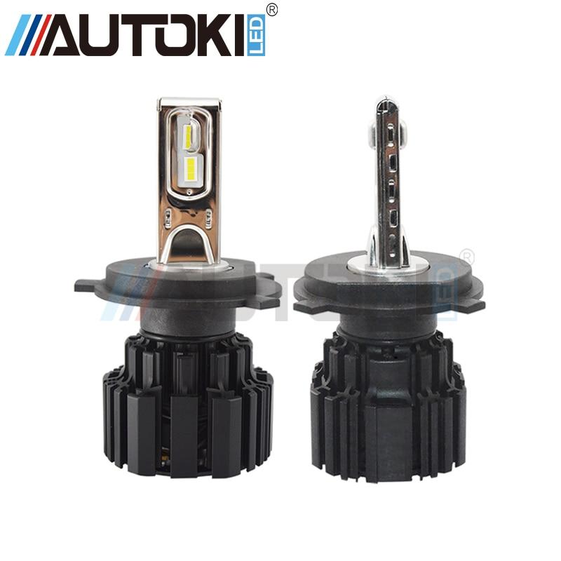 Livraison gratuite Autoki Super lumineux P9 voiture phare LED ampoule 100 W 13600lm phare 6000 K H4 H7 H11 9005 9006 9012 voiture phare
