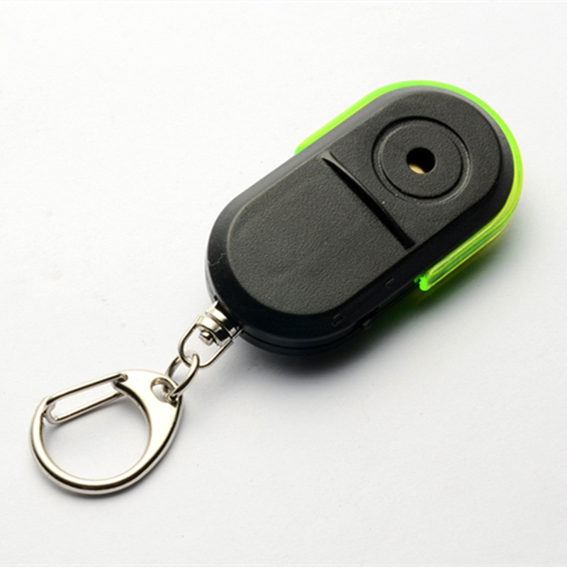 2019 New Self Defense Wireless Anti-Lost Alarm Key Finder Locator Keychain Whistle Sound LED Light High Quality Random Color