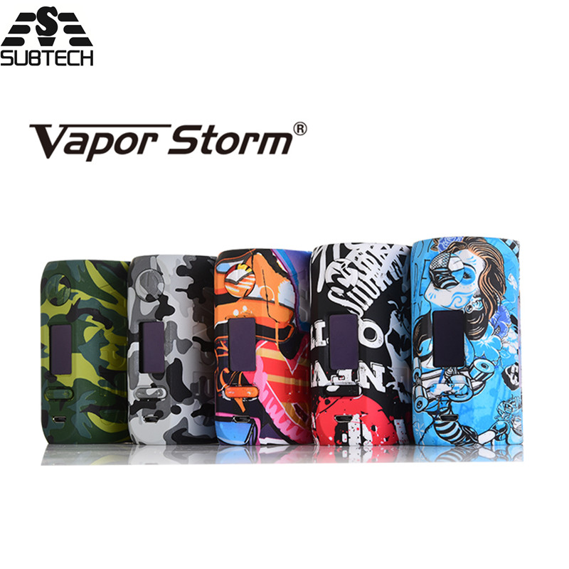 100% original Vapor Storm Storm230 Bypass 200W VW TC Box Mod fit 18650 Battery colorful Electronic Cigarette Box Mod Vapes original vapor storm storm 230 bypass 200w vw tc box mod puma mod vapes dual 18650 battery electronic cigarette vs wye 200w