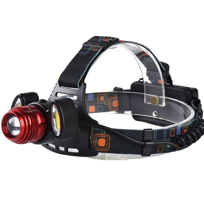 Ezk20 8000LM XM-L T6+2COB LED Rechargeable Headlight 4 Mode Headlamp Head Light Lamp Torch+2x18650 Batteries US/EU/AU/UK Charger