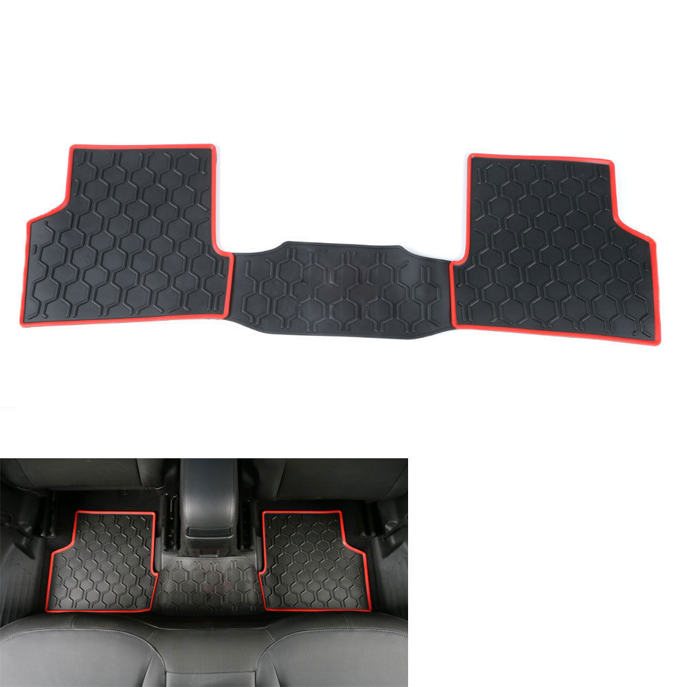 3pcs/set Cargo Carpet Rubber Slush Front +rear Car Floor Mats Floor Liner Kit Protector For Jeep Renegade 2015 2016 Car Styling 11 pc charcoal scottsdale seat covers front rear l cargo rubber mats universal