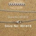 10pcs/lot Wholesale antique bronze/gold/silver/rhodium metal chains with lobster clasp Fit necklace,bracelets F1882