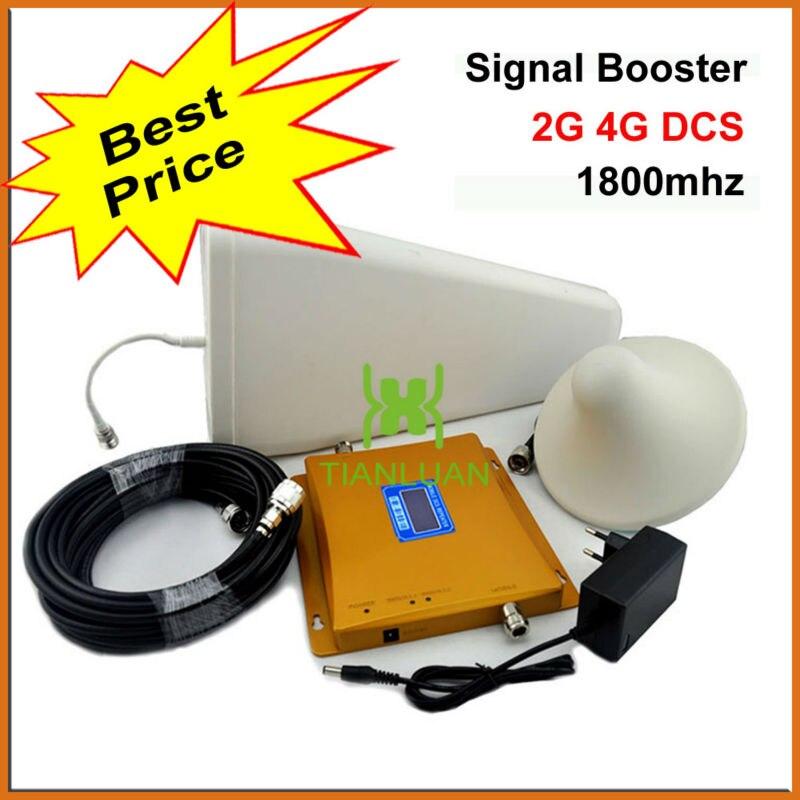 ЖК дисплей Дисплей 4 г DCS 1800 мГц мобильный телефон усилитель сигнала DCS980 повторитель сигнала с журнал периодических Телевизионные антенны/п
