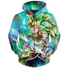 Cloudstyle Dragon Ball Super DBZ Movie 2018 Zip Hoodies Men Women 3D Sweatshirt Ainme Goku Printed Pullovers Male Zipper Hoody
