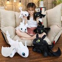35 см 45 см 60 см Как приручить дракона 3 Беззубика c игрушки Аниме Ночная ягода дракон плюшевые куклы игрушки для детей