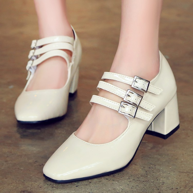 Big Size 11 12 13 14 ladies high heels women shoes woman pumps Three Fashion LadiesSingle Shoes with Buckles and Shallow MouthsBig Size 11 12 13 14 ladies high heels women shoes woman pumps Three Fashion LadiesSingle Shoes with Buckles and Shallow Mouths