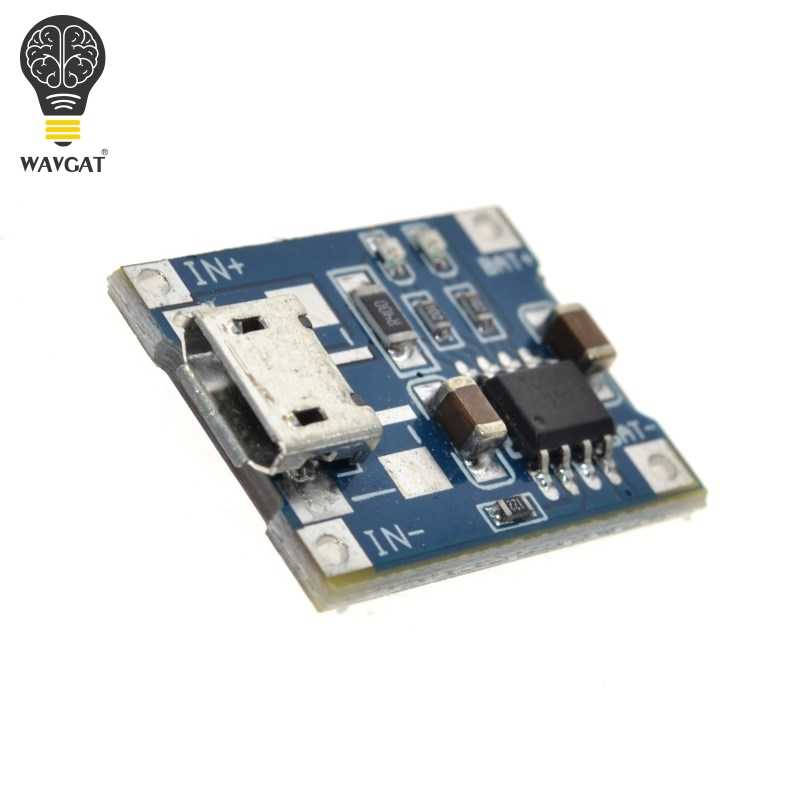 WAVGAT 5V 1A Micro USB 18650 batterie au Lithium chargeur Module + Protection double fonctions TP4056