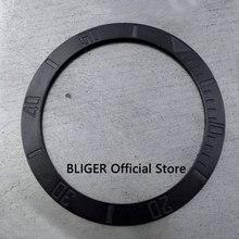 38 мм матовый черный керамический ободок вставки подходят 40 мм чехол для часов SUB автоматические часы мужские часы изготовленные BLIGER factory BB13