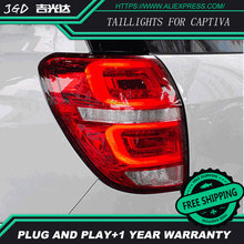 Diseño de Coches luces traseras para Chevrolet Captiva 2009-2016 luces traseras LED Lámpara De Cola posterior del tronco cubierta de la lámpara drl + señal + freno + reversa