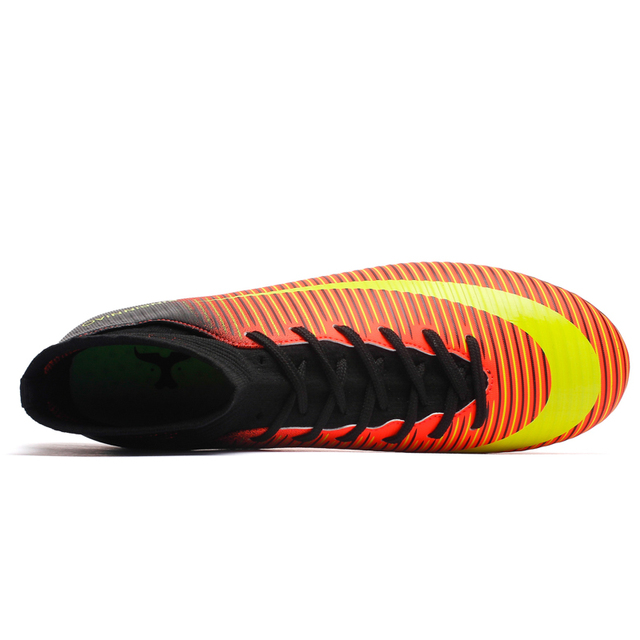 219a039cc ... ZHENZU Outdoor Men Boys Soccer Shoes Football Boots High Ankle Kids  Cleats Training Sport Sneakers Size