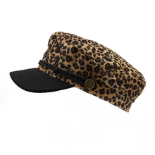 Spring Autumn Leopard Beret Hat Lady Women Army Cap Flat Hats Fashion Casual Snapback Military for Female Girls