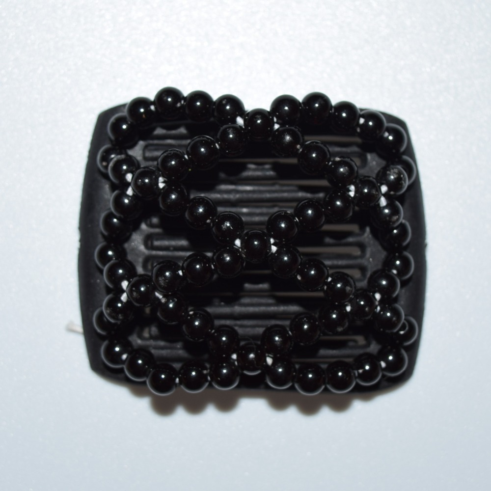 black pearl beads small size magic comb 20 pcs lot Easy to Use