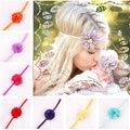 17 Gasa Color de La Flor hairband Del Pelo Accesorios Niñas Bebés Venda Del Cordón Del Bebé Infantil de la muchacha de la Armadura Del Pelo pinzas para el cabello banda de childern