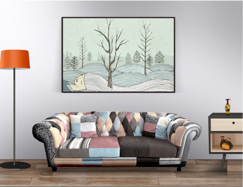 Abstract decorative painting simple aesthetic background wall decoration frameless painting