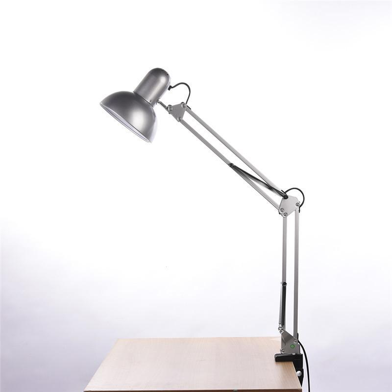 Modern Table Lights LED Folding Desk Lamp With Clip Multi-Joint Long Swing Arm Adjustable Lamps Eye-Care Office Reading Light S3 long swing arm adjustable classic desk lamps e27 led with switch table lamp for office reading night light bedside home