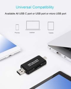 Image 4 - SD כרטיס קורא USB 3.0 כרטיס קורא מיקרו TF SD קורא חכם זיכרון כרטיס מתאם סוג C Cardreader USB 2.0 מיקרו OTG עבור מחשב נייד