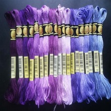 cxc threads  DMC 819-892 Embroidery Floss Embroidery Threads 10PCS/lot 8M Cross-stitch kit Cross stitch Floss Kits 11.12