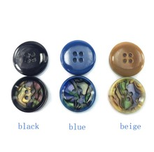 50pcs 11.5mm/15mm/20mm/25mm Top Fashion New design Decorative Buttons Mens Shirts Are Four Eye Button Coat Resin