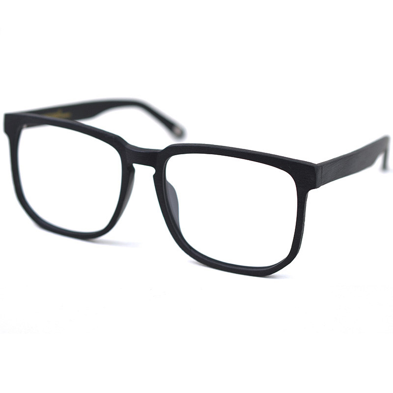 Image 4 - Posesion Square Acetata Large Men Eyeglasses Frames Vintage Wooden Big Face Women Myopic Optical Glasses Clear Lens Eyewear-in Men's Eyewear Frames from Apparel Accessories