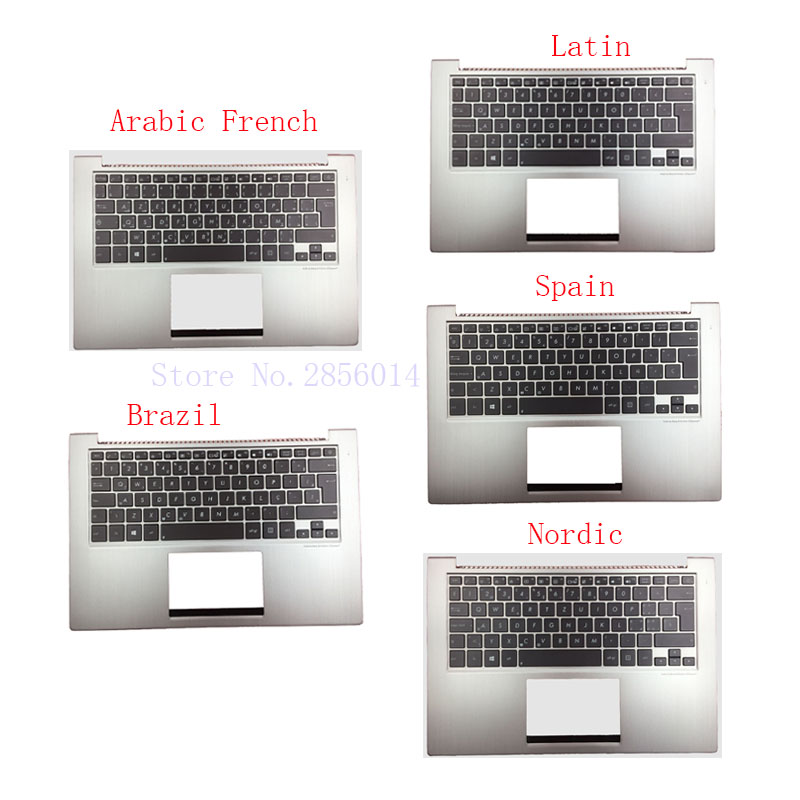 Spanish/Latin/Brazil/Nordic/Arabic French laptop Keyboard for ASUS UX32 UX32A UX32E UX32V BX32 UX32VD backlight Palmrest Cover for asus zenbook ux31 ux31e ux31a ux31e ux32a ux32e ux32v ux32vd k ux31a ux31e bx32 laptop keyboard it italian backlight paper