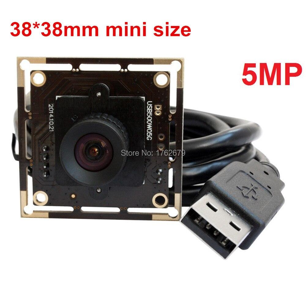 No distortion lens 5Megapixel 2592x1944 1/2.5 inch Aptina MI5100 CMOS micro HD surveillance usb camera board for photo capture цена 2017