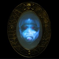 Halloween Party Decorative Props Supplies Audible Mirror Decoration Masquerade Bar Horror Luminous Sound Mirror