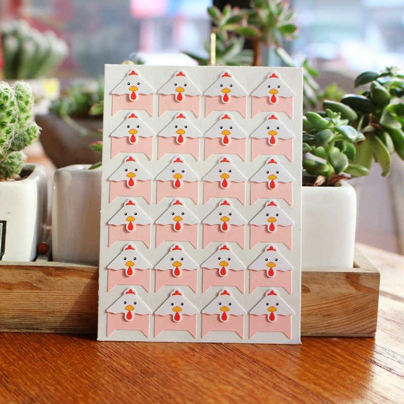 96 шт./лот 4 простыни Детские DIY милые цветные животные углу бумага наклейки для фото альбом скрапбукинг ручной работы рамки альбомы украшения