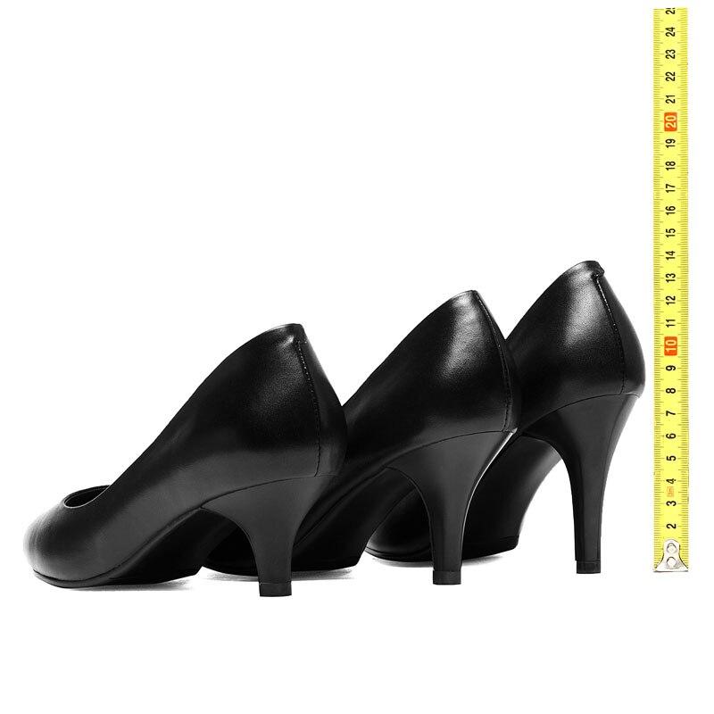 La Bombas Hechos 5 Señoras Del Zapatos 5 Black Dedo Más Pie A De Mujer Cuero  Fanyuan Mujeres Tacones ... 048a5c96049b