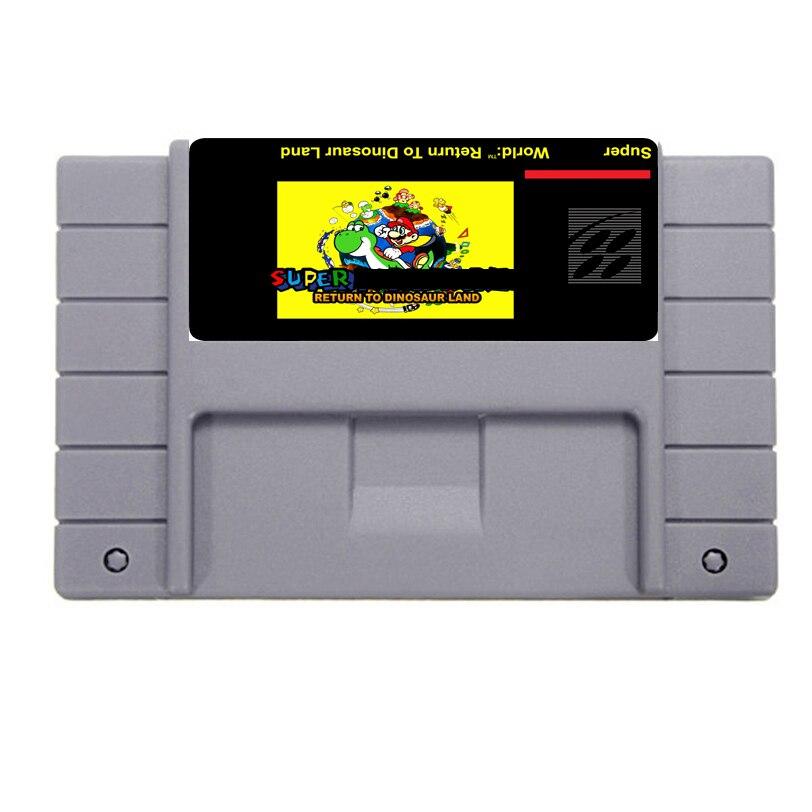 Большая распродажа вернуться к динозавр Land карточная игра для 46 Булавки 16 бит NTSC игры Сохранить файл!