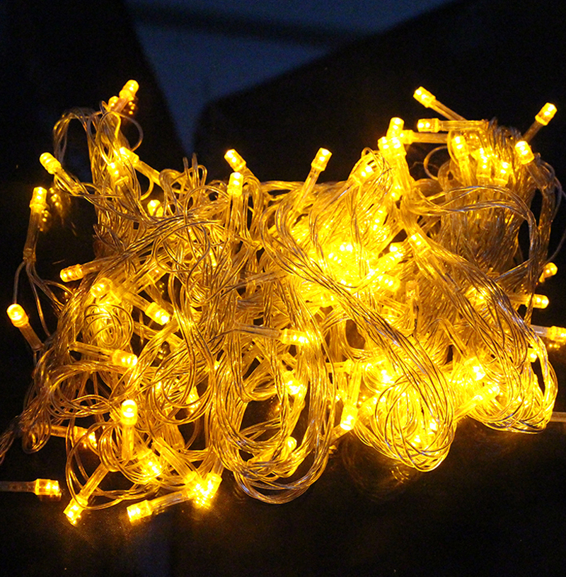 10M 100 LED Home Outdoor Holiday Christmas Decorative Wedding xmas String Fairy Garlands Strip Party Lights free shipping zk93 недорого