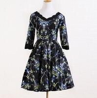 חנויות בגדים באינטרנט בריטניה סגנון עיצוב ייחודי רטרו שמלה אלגנטית פרחונית וינטג שמלת חלוק תחיית 50 s 60 s kleidung