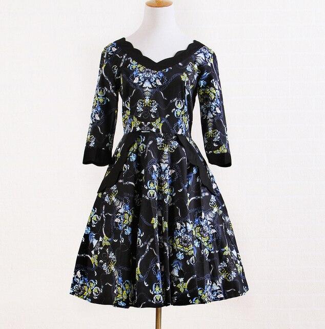 d3eca5d0f8a5db6 Интернет магазины одежды в английском стиле Уникальные ретро-дизайн  Элегантное платье цветочный винтажное платье revival