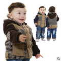 new winter thicken warm plaid kids clothes sets boys clothing sets 2pcs kids apparel winter set boy frozen clothing sets