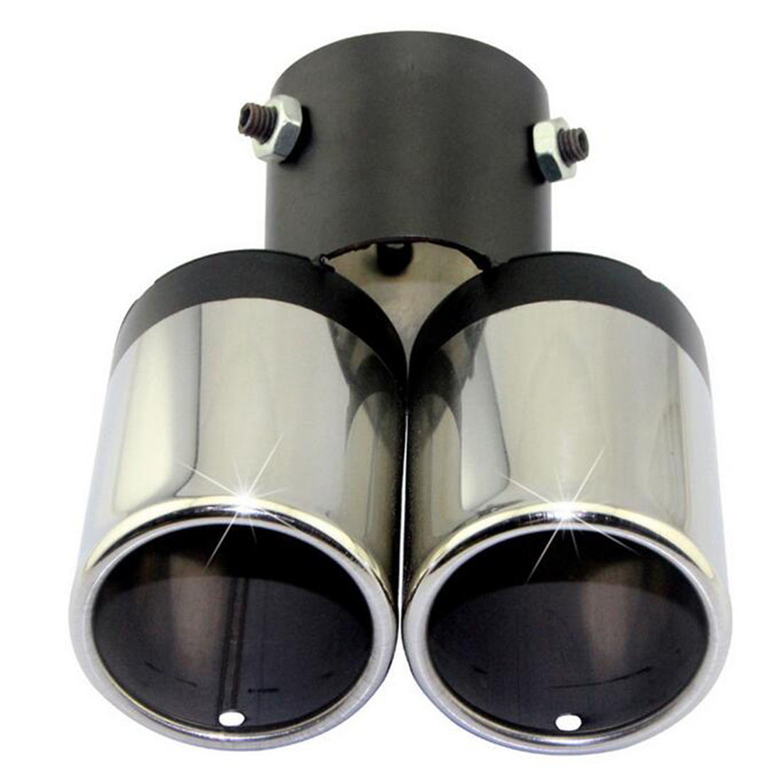 CAR-partment Good selling Stylish Car Vehicle Exhaust Muffler Steel Double Tail Pipe Moto Accessory