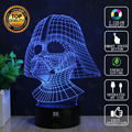 Lámpara de Star Wars Darth Vader Anakin Skywalker 3D BB-8 Lámpara LED novelty luz brillante luces de la noche del usb del regalo del niño hui yuan marca
