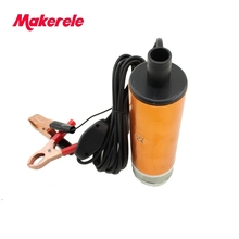 цена на Aluminium Alloy DC 12/24V Submersible Transfer Diesel Fue l Water Oil Pump On/Off Switch Car Camping Portable 30L Per Minute