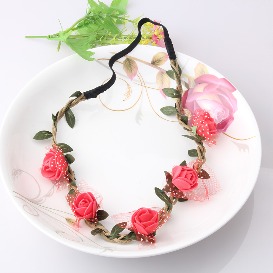 950fb92c8 M MISM Girls Fashion Flowers Headbands Perfect Quality Wreath Hair  Accessories for Women Floral Hair band