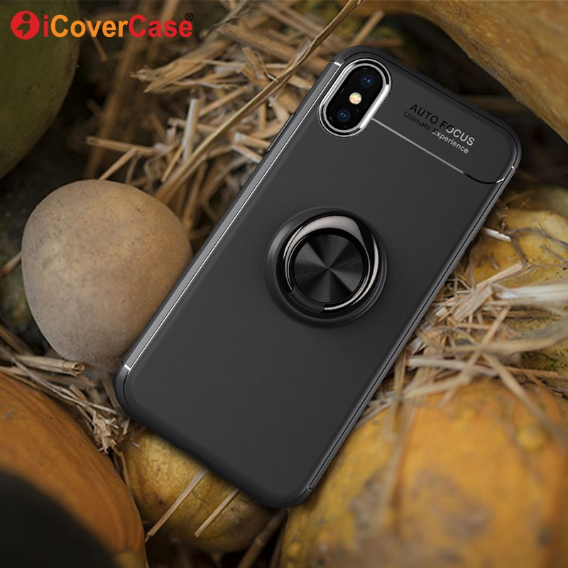 Magnetic <font><b>Case</b></font> For <font><b>Apple</b></font> <font><b>iPhone</b></font> 7 Plus 8 <font><b>X</b></font> 6S 6 SE 5S 5 Soft Silicone Cover Car Holder Finger Ring <font><b>Cases</b></font> Phone Accessories Coque image