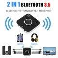 2 В 1 Bluetooth V4.1 Аудио Передатчик Приемник 3.5 мм Стерео Аудио Порт Поддержка Aux Out Наушники
