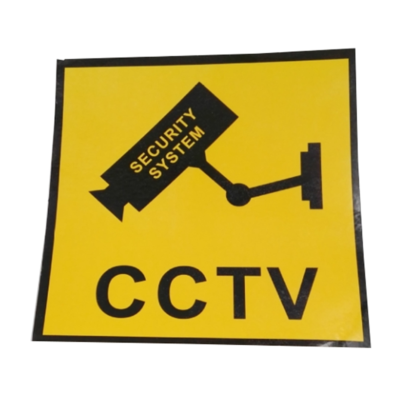 2 Stücke Wasserdichte Sicherheit Kamera Aufkleber Warnung Aufkleber Zeichen Für Cctv Überwachung Gefälschte Kamera Und Dummy Kamera