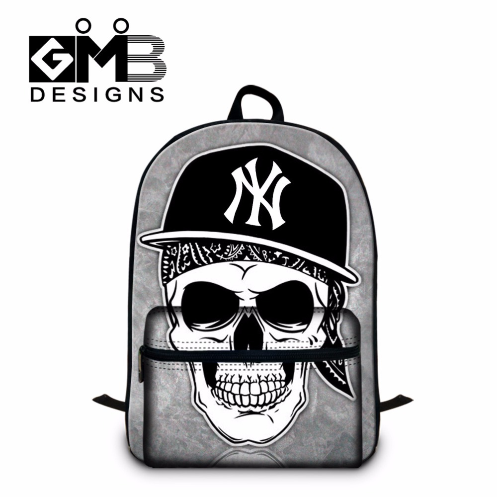 School bags for youth - Cool Laptop Backpacks For College Mens Backpacking Bag Skull Printed Bookbags For Boys Youth Day Pack Girls School Bags Mochila
