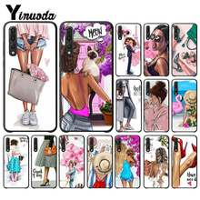 Yinuoda Fashion girl vacation shopping Soft Shell Phone Cover for Huawei P9 P10 Plus Mate9 10 Mate10 Lite P20 Pro Honor10 View10(China)