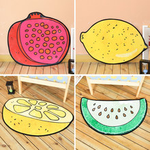 Cute fruit mat Idyllic cartoon entrance door Bedroom kitchen bathroom Non-slip absorbent foot pad Chenille